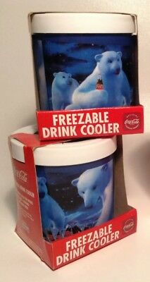 Coca Cola collectibles New (2) frezable drink cooler