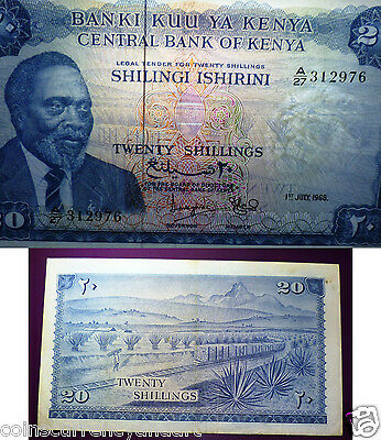 Central Bank of KENYA  - 1968 20 Shillings