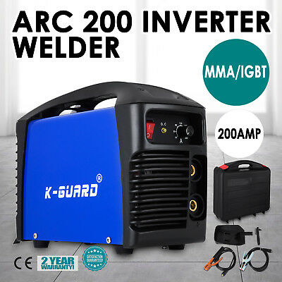 NEW K-GURRD ARC 200Amp DC iGBT Inverter Welder Portable Welding Machine