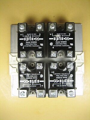 OPTO 22  DC60S5  Solid State Relay  5A 60VDC  Lot of 4 pcs