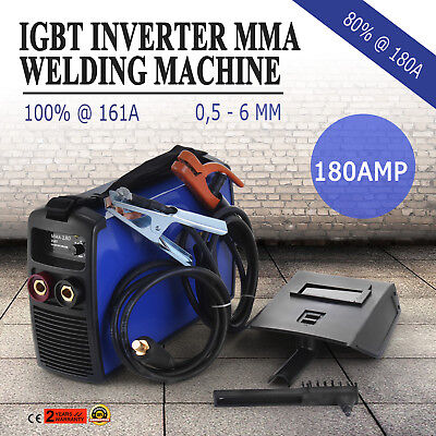 NEW Vevor 180Amp DC iGBT ARC Inverter Welder Portable Welding Machine MMA-180P