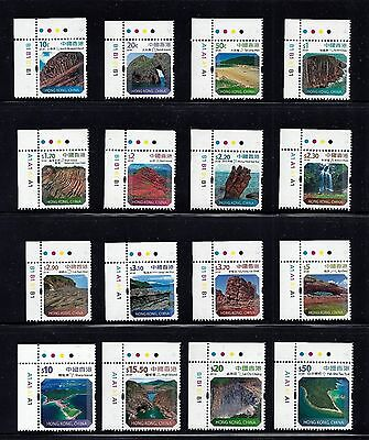 Hong Kong 2014 Landscapes Global Geopark Rock Stamps $0.1-$50 Vf Mnh - Rock