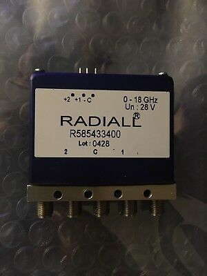 Radiall 18GHz SMA Latching RF Coaxial Switch