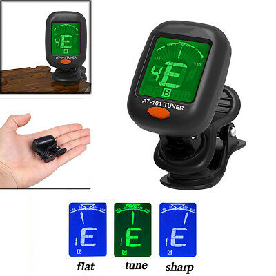 NEW Digital Chromatic LCD Clip-On Electric Tuner For Bass Guitar Ukulele Violin