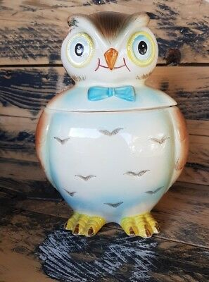 Vintage Retro OWL COOKIE JAR Biscuit Barrel Collectable