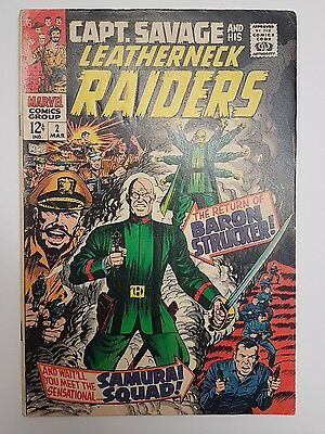 Capt. Savage and His Leatherneck Raiders #2 (Mar 1968,Marvel) 12 Cents *NERDARY*