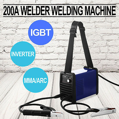 200A 220V Igbt Inverter Welder 200V Dc Stock Welding Machine Good Updated