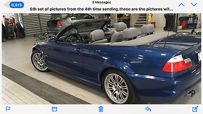 2002 BMW M3 Leather Beautiful BMW M3 SMG Convertible
