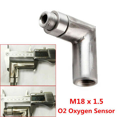O2 OXYGEN SENSOR ANGLED EXTENDER 90 DEGREE 02 BUNG EXTENSION SPACER M18 x 1.5