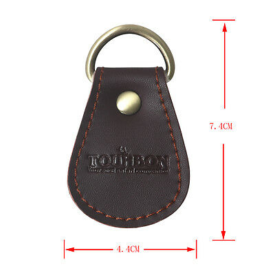 Fly Fishing Leather Clip Leaders Straightener Dry Flies Patch Trout Holder Brown