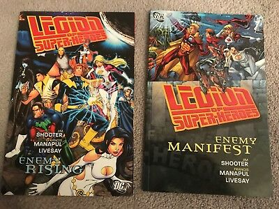 Legion of Superheroes Enemy Rising and Enemy Manifest, Acceptable to Good