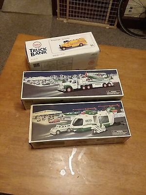 lot of Hess trucks and Shell truck