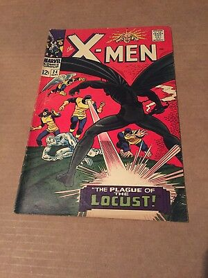 Marvel Silver Age X-Men 24 1966 1St Appearance Of The Locust