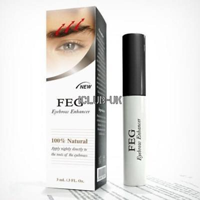 FEG Original 3ml Eyebrow Enhancer Brush Rapid Growth Original Serum Liquid New