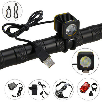 USB 5000lm XM-T6 LED RECHARGEABLE BICYCLE LIGHT TORCH BIKE MOUNTAIN LAMP BATTERY