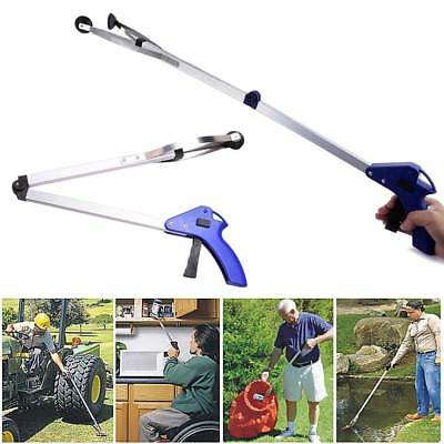 Folding Easy Reach Grab Grabber Stick Long 83cm Pick Up Reaching Tool Extend New