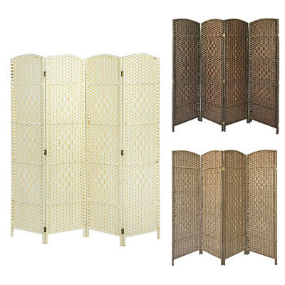 Hand Made Wicker Folding Room Divider Solid Weave Separator/Privacy Screen/Panel