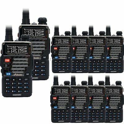 10 x Baofeng / Misuta UV-5R FM UHF VHF 136-174/400-520MHz Radio + Earpiece UK