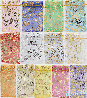 100pc Sheer Organza Wedding Party Favor Gift Christmas Candy Bag Packaging Pouch