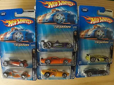 7 x 2005 Hot Wheels, Torpedoes series