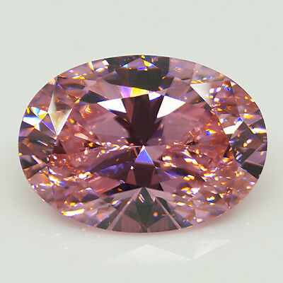 31.10CT Pink Sapphire Zirconia Oval Cut Gems Faceted 15X25mm Loose Gemstones DIY