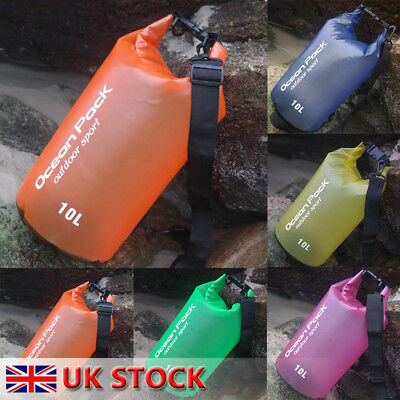 UK Waterproof Storage Dry Bag Hiking Swimming Sports Canoeing Outdoor Camping