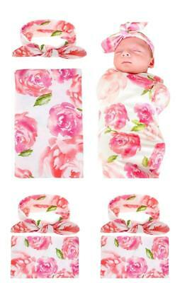 Swaddle,Swaddle Blanket,Receiving Blankets and Headband Set for Newborn Baby Gir