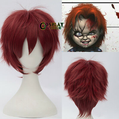 Child's Play Chucky Red Layered 30cm Halloween Short Anime Cosplay Wig+ Cap