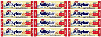 911953 12 x 45g BARS OF NESTLE'S NEW MILKY BAR BERRY CRUMBLE MADE WITH REAL MILK