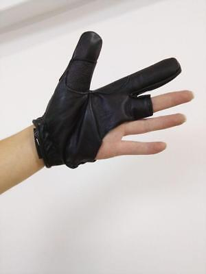 ArcheryMax Traditional Target Hunting Leather Left Finger Shooting Glove