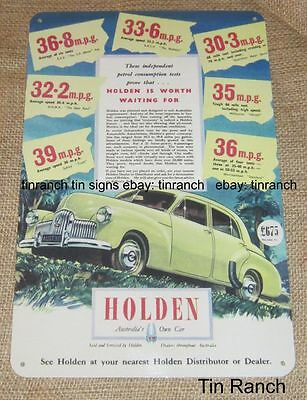 HOLDEN FX TIN SIGN new vintage Australian advertising Classic car garage shed