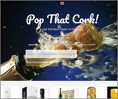 PARTY CHAMPAGNE Website|Upto £319 A SALE|FREE Domain|FREE Hosting|FREE Traffic