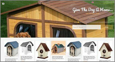 DOG HOUSES Website Earn £90.56 A SALE|FREE Domain|FREE Hosting|FREE Traffic