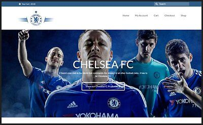 CHELSEA FC SOCCER Website|$107.29 A SALE|FREE Domain|FREE Hosting|FREE Traffic