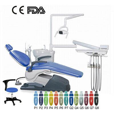 Computer Controlled Hard Leather Dental Unit Chair FDA CE 8 Colors for Choose