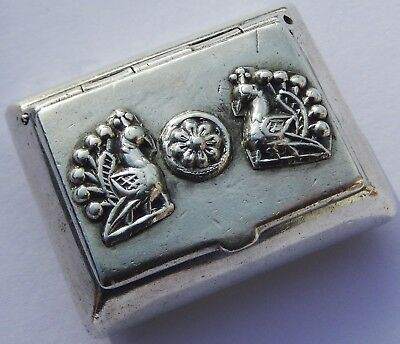 Exquisite Quality Antique Indian Solid Silver Box