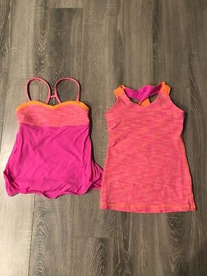 Pink and Orange Ivivva by Lululemon Tops size 12 Adorable!!