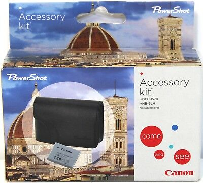 Canon Powershot Camera Accessory Kit Black Camera Case Replacement Battery