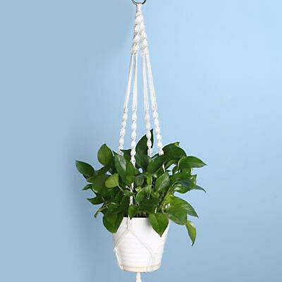 Home Garden Macrame Plant Hanger Rope Flowerpot Holder Garden Lifting Decoration
