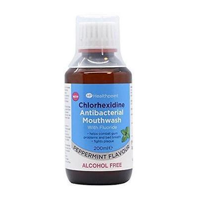 ** Healthpoint Chlorhexidine Antibacterial Mouthwash 200Ml  New ** Peppermint