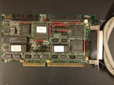 Adaptec 1542B SCSI disk controller adapter ISA card and cable