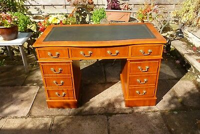 In great condition a lovely reprodution pedestal writing desk.