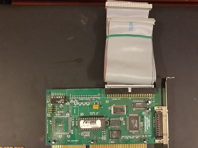 Future Domain IBM SCSI disk controller adapter ISA card and internal cable