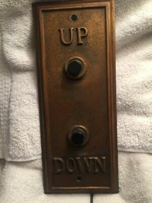 Vintage Elevator Switch Brass Or Bronze Up/Down Panel