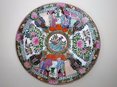 Vintage / Antique Chinese Famille Rose Hand Painted Plate.