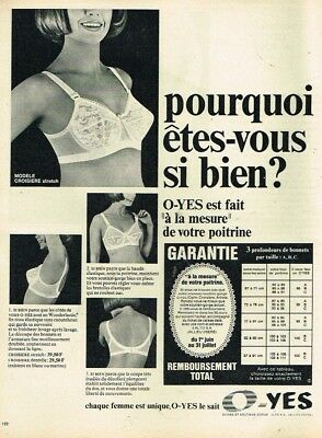 M- PUBLICITÉ ADVERTISING 1967 Lingerie soutien gorge O-Yes - EUR 3 ... b6e33712489
