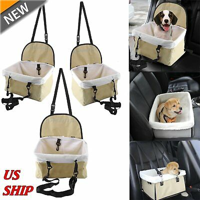 Car Seat For Dog Pet Cat Booster Seat Travel Box Lining Chair Transport Medium E