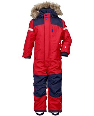 Didriksons Bjornen Kids Snowsuit | Red