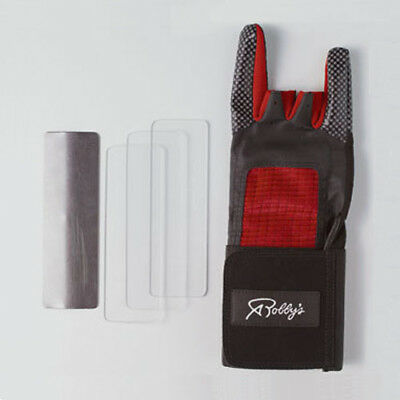 Robby's Competitor Right Handed Bowling Glove W/ Support Red/black