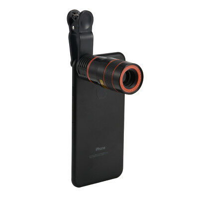 8X Optical Telephoto HD Zoom Camera Telescope Clip-On Lens for Smart Phone DC784